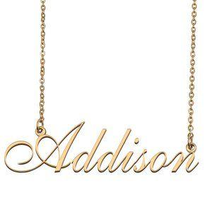 Custom Personalized Addison Name Necklace